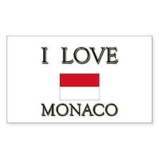 I Love Monaco Rectangle Decal