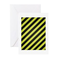 Warning Stripe Greeting Card