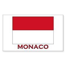 Monaco Flag Merchandise Rectangle Decal
