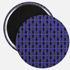 Purple and Black Goth Cat Pattern Magnet