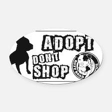 Adopt Dont Shop Oval Car Magnet