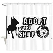 Adopt Dont Shop Shower Curtain