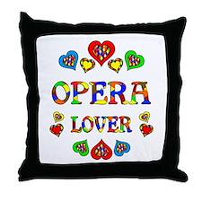 Opera Lover Throw Pillow