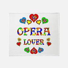 Opera Lover Throw Blanket