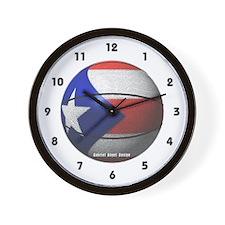 Puerto Rican Basketball Wall Clock