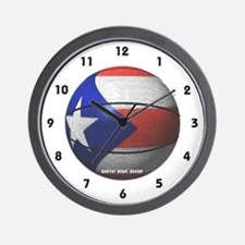 Puerto Rican Basketball Wall Clock