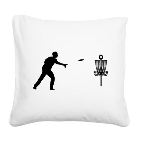 Disc Golf Square Canvas Pillow