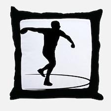 Discus Throwing Throw Pillow