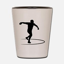 Discus Throwing Shot Glass