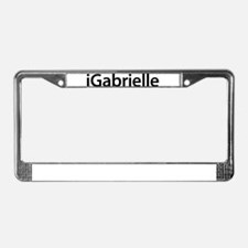 iGabrielle License Plate Frame