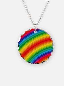 Rainbow Striped Pattern Necklace