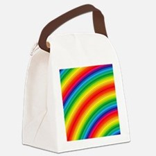 Rainbow Striped Pattern Canvas Lunch Bag