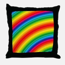 Rainbow Striped Pattern Throw Pillow