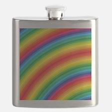 Rainbow Striped Pattern Flask