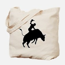 Bull Riding Tote Bag