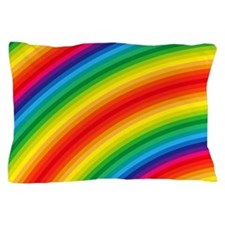 Rainbow Striped Pattern Pillow Case