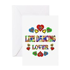 Line Dancing Lover Greeting Card