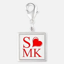 S ≪3 MK Silver Square Charm