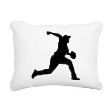 Baseball Pitcher Rectangular Canvas Pillow