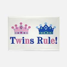 Twins Rule! (Girl & Boy) Rectangle Magnet
