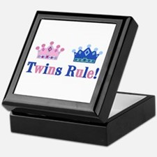 Twins Rule! (Girl & Boy) Keepsake Box