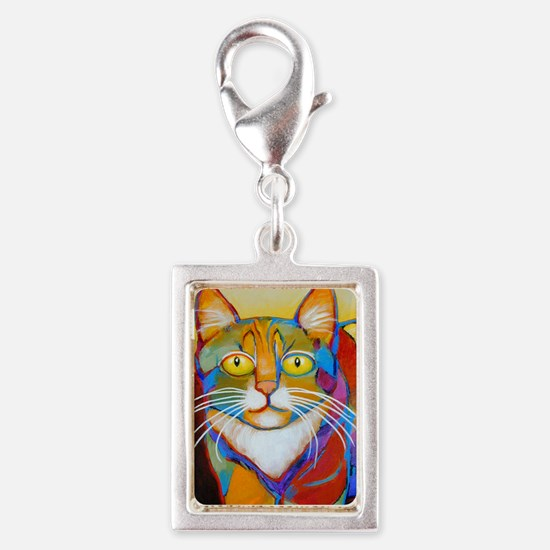 Cat-of-Many-Colors Silver Portrait Charm