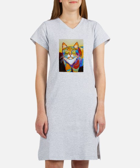 Cat-of-Many-Colors Women's Nightshirt