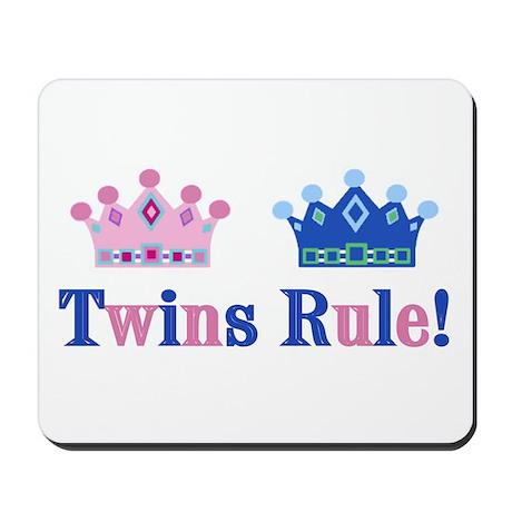 Twins Rule! (Girl & Boy) Mousepad