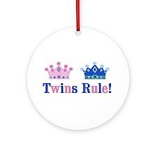 Twins Rule! (Girl & Boy) Ornament (Round)