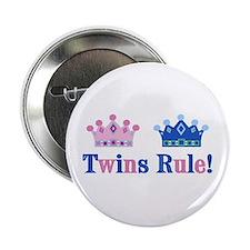 Twins Rule! (Girl & Boy) Button