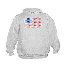 German Shepherd USA American FLAG - Hoodie