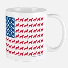 German Shepherd USA American FLAG - Mug