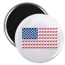 German Shepherd USA American FLAG - Magnet