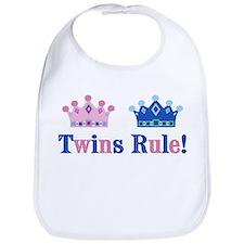 Twins Rule! (Girl & Boy) Bib