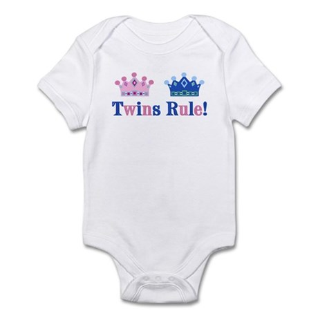 Twins Rule! (Girl & Boy) Infant Bodysuit