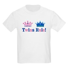 Twins Rule! (Girl & Boy) Kids T-Shirt