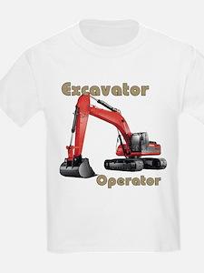 Red Excavator T-Shirt