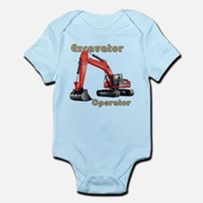 Red Excavator Infant Bodysuit