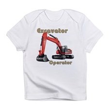 Red Excavator Infant T-Shirt