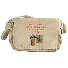 med school joke Messenger Bag