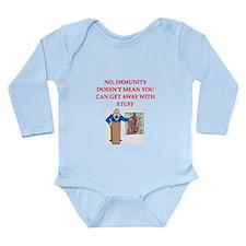 med school joke Long Sleeve Infant Bodysuit