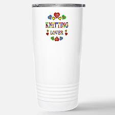 Knitting Lover Stainless Steel Travel Mug
