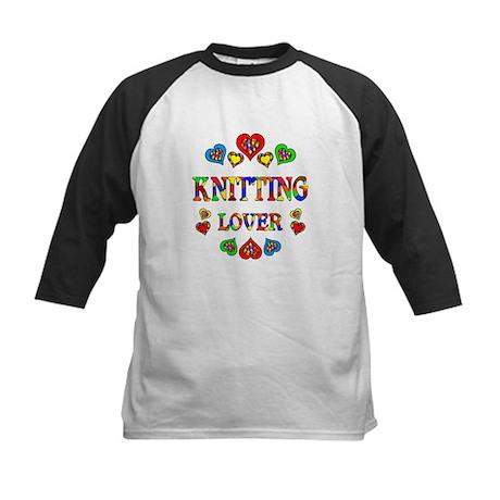 Knitting Lover Kids Baseball Jersey