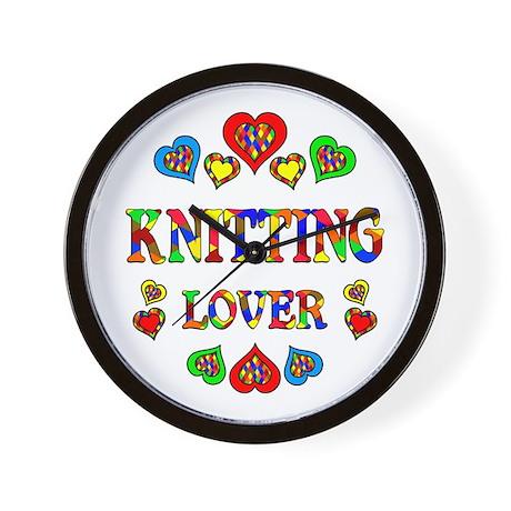 Knitting Lover Wall Clock