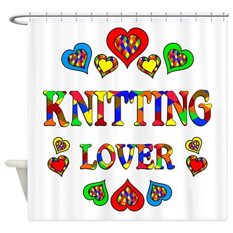 Knitting Lover Shower Curtain