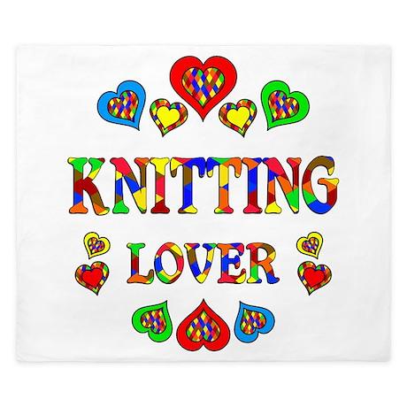 Knitting Lover King Duvet