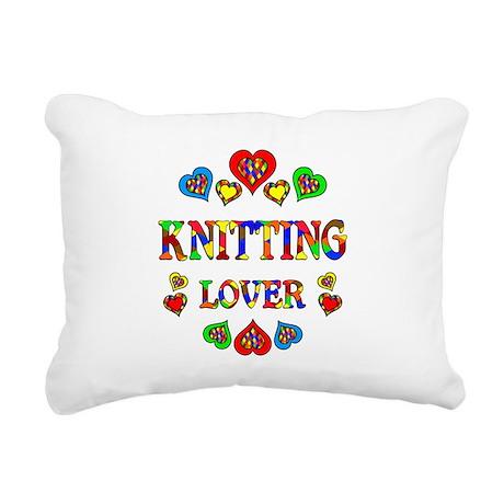 Knitting Lover Rectangular Canvas Pillow