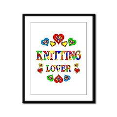 Knitting Lover Framed Panel Print