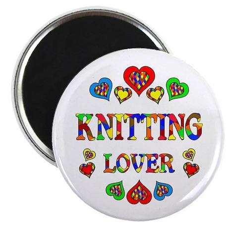 """Knitting Lover 2.25"""" Magnet (10 pack)"""