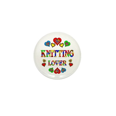 Knitting Lover Mini Button (10 pack)